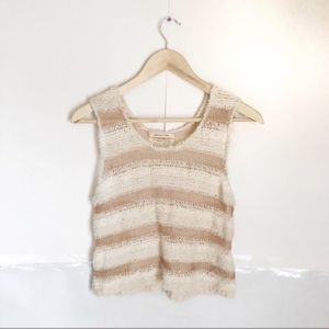 🌻NWT Urban Outfitters Striped Gold and White Tank